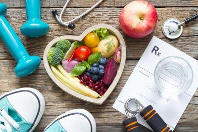 Sticker Concept de mode de vie sain avec remise en forme et médecine