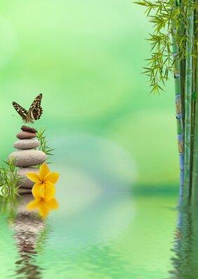 Sticker concept de nature détente, bien-être, relaxation