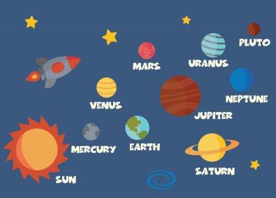 Sticker concept de système solaire
