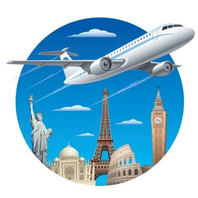 Sticker concept de Voyage de l'air