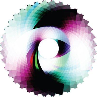 Sticker Conception abstraite géométrique. vecteur de fond