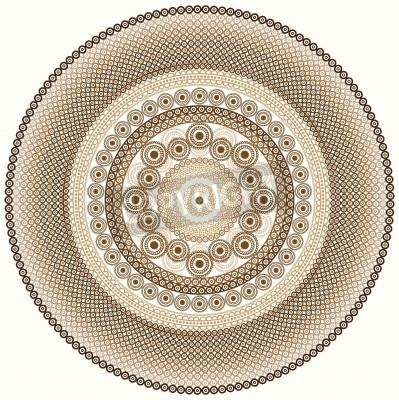 Sticker Conception colorée de mandala de henné