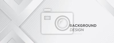 Sticker Conception créative de fond bannière web abstrait gris blanc moderne