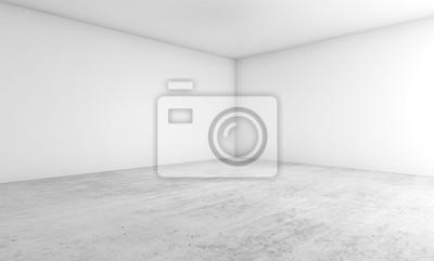Conception d'architecture vide. Illustration 3d