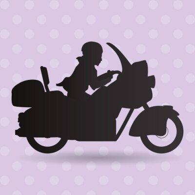 Sticker Conception d'icône de camion