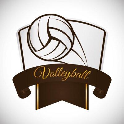 Sticker Conception d'icônes de volley-ball