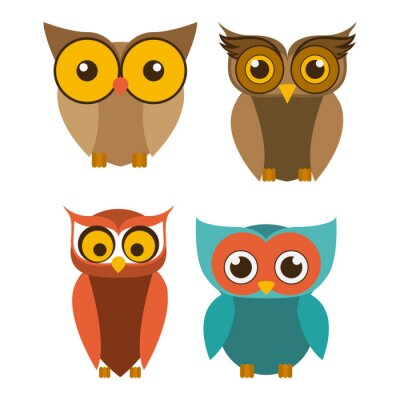 Sticker conception d'oiseau, illustration vectorielle.