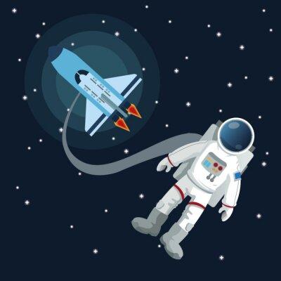 Sticker Conception de l'icône de l'espace