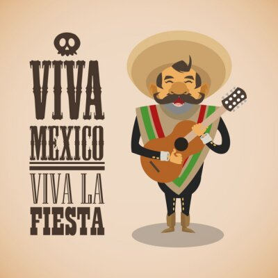 Sticker Conception de la culture mexicaine