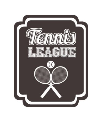 Sticker Conception de ligue de tennis