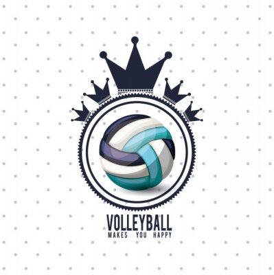 Sticker Conception de ligue de volleyball