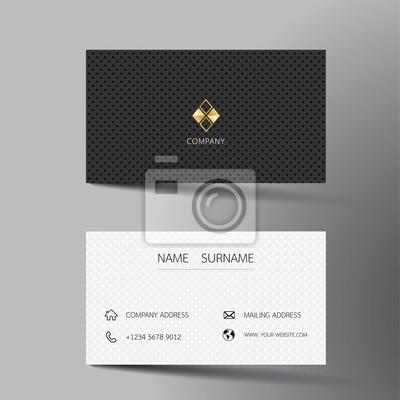 Sticker Conception De Modele Carte Visite Noir Et Blanc Avec Linspiration