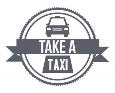 Sticker Conception de service de taxi