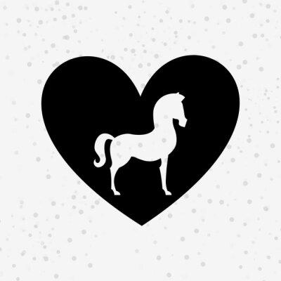 Sticker Conception de silhouette de cheval