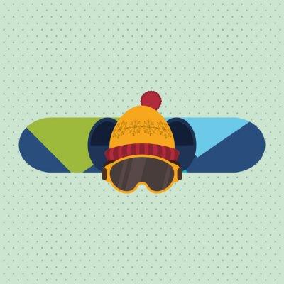 Sticker Conception de sport d'hiver