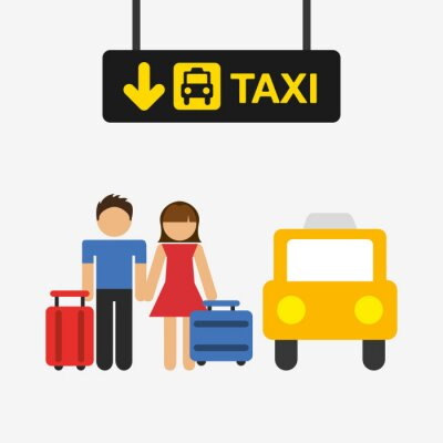 Sticker Conception de terminal d'aéroport