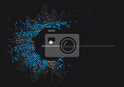 Sticker Conception graphique en réseau radial, fond abstrait.
