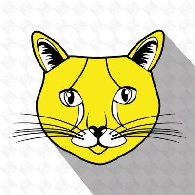 Sticker Conception mignonne de chat