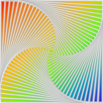Sticker Conception multicolore tourbillon mouvement sur fond d'illusion