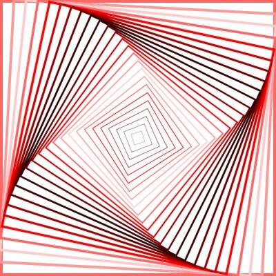 Sticker Conception pirouette coloré mouvement illusion fond