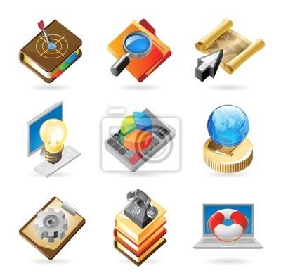 concepts d'icônes pour les travaux
