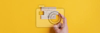 Sticker Conceptual image of vision and idea