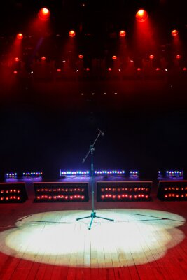 Sticker Concert stage with red light