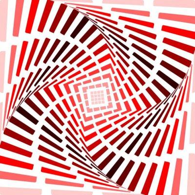 Sticker Concevoir pirouette rouge mouvement sur fond d'illusion. Résumé de bande