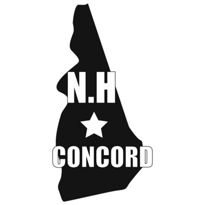 Concord map in black on a white background