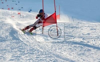 Sticker Concours sur la montagne de ski