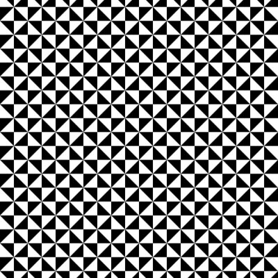 Sticker Configuration en triangle noir et blanc
