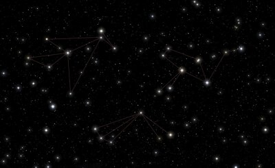 Sticker Constellations de Phoenix, Tucana et Grus