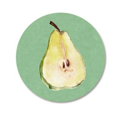 Sticker Contexte avec des fruits. Illustration d'aquarelle