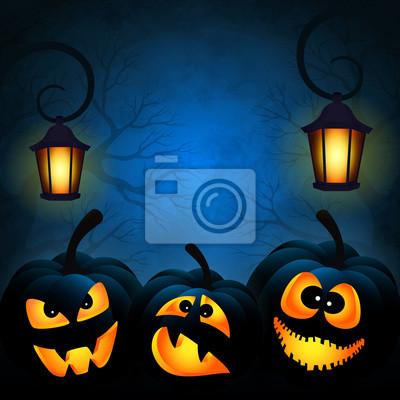 Contexte de l'Halloween avec citrouilles