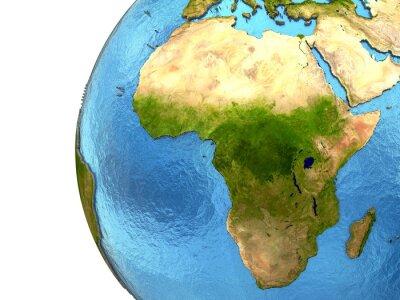 Sticker Continent africain sur la terre