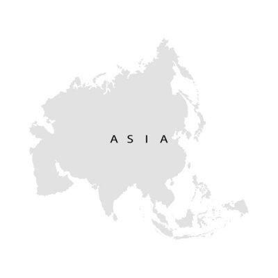 Sticker Continent Asie