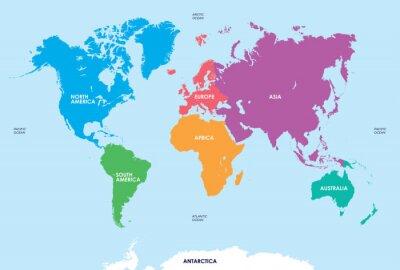 Sticker Continents du Monde, Carte