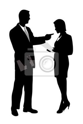 conversation d'affaires