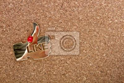 Cork bord avec une icône comme