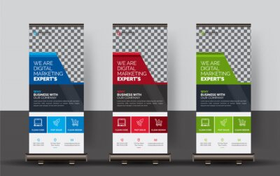 Sticker Corporate Roll-up Banners, Set of roll up banner, roll up banner, banner, Corporate banner design, Pop up banner design, Creative banner, Banner eps.