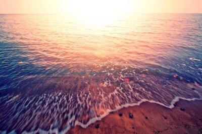 Sticker Coucher de soleil sur la mer.