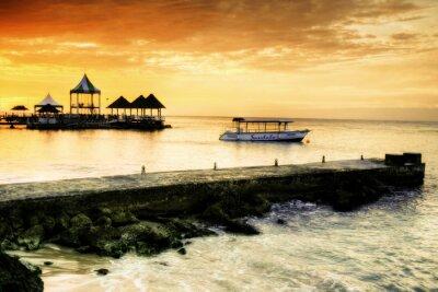 Coucher du soleil des Caraïbes