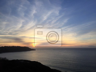 Coucher soleil, océan, SAN, francisco, californie
