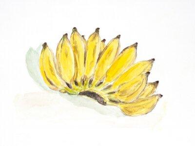 Sticker couleur de l'eau de la banane peint