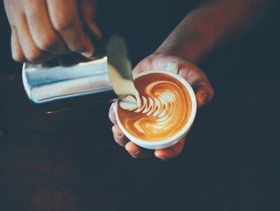 Sticker Coupe de l'art du café latte café
