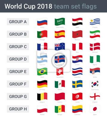 coupe du monde 2018 quipe agitant des drapeaux des groupes stickers pc portable. Black Bedroom Furniture Sets. Home Design Ideas