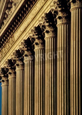 Sticker Cour suprême américaine façade et les colonnes du bâtiment