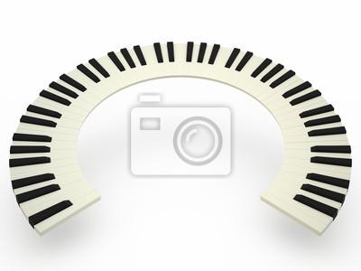 Courbe clavier de piano