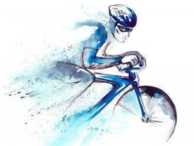 Sticker coureur cycliste