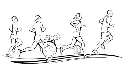 Sticker Coureurs de marathon